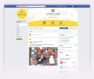 page Facebook Passions de Jacotte